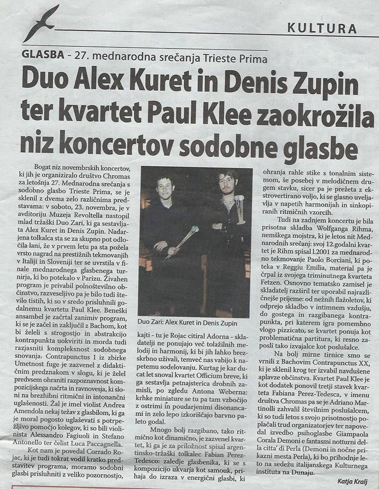 Primorski Dnevnik 30.11.2013